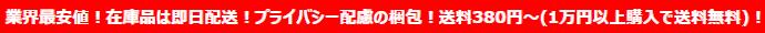 業界最安値!在庫品は即日発送!プライバシー配慮の梱包!送料380円~(1万円以上購入で送料無料)!