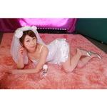 【会員限定250ポイント還元!】セクシーサテンウェディングドレス セット