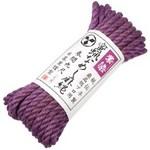 蜜蝋なめし麻縄 紫染(7M)