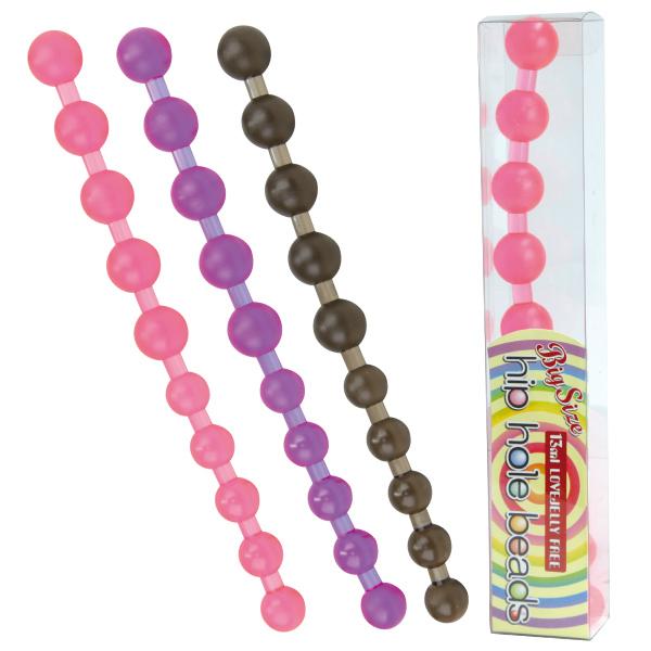 【販売終了・アダルトグッズ、大人のおもちゃアーカイブ】ヒップホールビーンズBIG(ローション付) ピンク 商品説明画像2