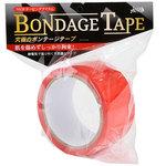 ラブファクター ボンデージテープ 赤 簡単拘束 非粘着SMテープ 20m使用