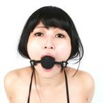 SMVIP シリコン口枷 鍵付き 黒 ◇