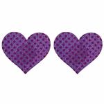 ニップルシール ドットハート紫
