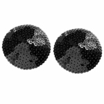 【50〜60%OFF!】ニップルカバー スパンコールラウンド黒