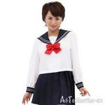 AKIBA清純セーラー ホワイト 長袖