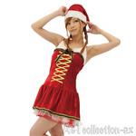 【クリスマスセール!12月25日まで】ゴールドリボンサンタドレス ◇