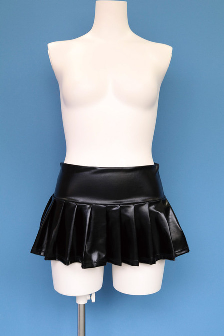 エナメルミニプリーツスカート おとこの娘用 TMT-771 商品説明画像2