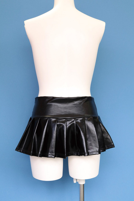 エナメルミニプリーツスカート おとこの娘用 TMT-771 商品説明画像3