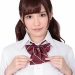 きゅん可愛スクールリボン ダークレッドストライプ ◇