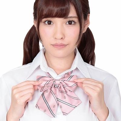 きゅん可愛スクールリボン ピンクストライプ ◇ 商品説明画像1