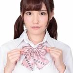きゅん可愛スクールリボン ピンクストライプ ◇