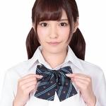 きゅん可愛スクールリボン 紋章ブルーストライプ ◇