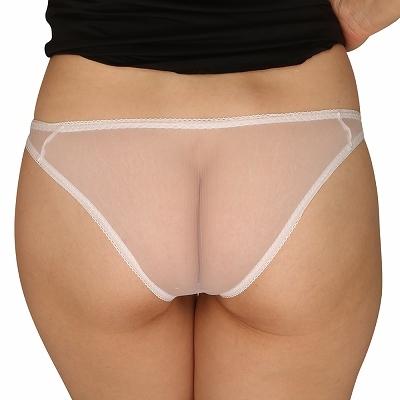 シースルー&フラワーレースポケット付きフルバック ホワイト 商品説明画像2