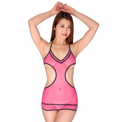 超極薄セクシー過ぎる魅惑のボディコン ピンク 商品説明画像1