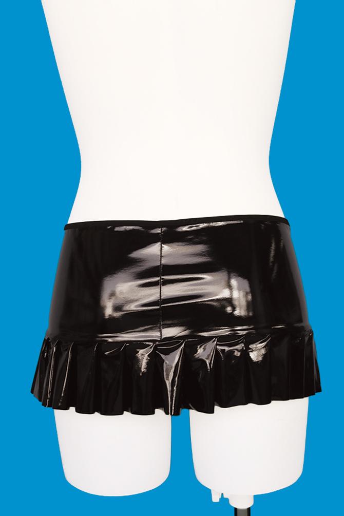 シャイニングエナメルプリーツスカート おとこの娘用TMT-1094 商品説明画像2
