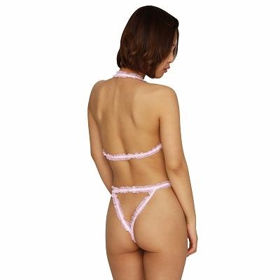 フリルストリングプレイスーツ ピンク 商品説明画像2