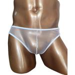 BadDaddy Men's Collection SEXYメッシュパンツ白(M-001)ホワイト2JT-LM011
