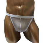 Men's Collection SEXYフィッシュネットパンツ(F-001)ホワイト2JT-LM012
