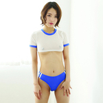 【20%ポイント還元!!体育祭フェア!】エロコス 体操着A ブルー