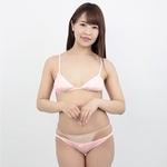 コットンインゴムブラ&フルバック ピンク