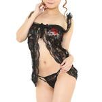 chu-U-chuLingerie Collection ラブリーベビードール(L-010)ブラック2JT-LG083