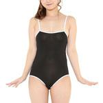 Costume Collection スクール水着(やや透け)  黒×白ライン (S-019)2JT-CT139