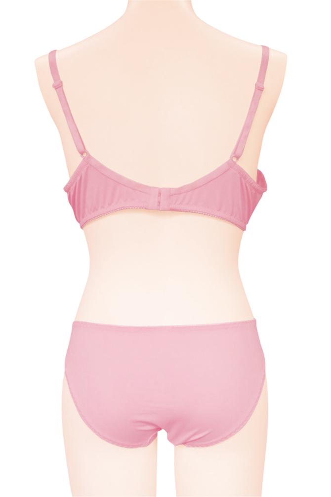 レーシーブラ&ショーツ ピンク おとこの娘用TMT-1422 商品説明画像4