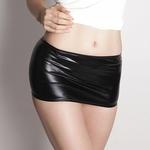 キラキラメタリックタイトスカート ブラック