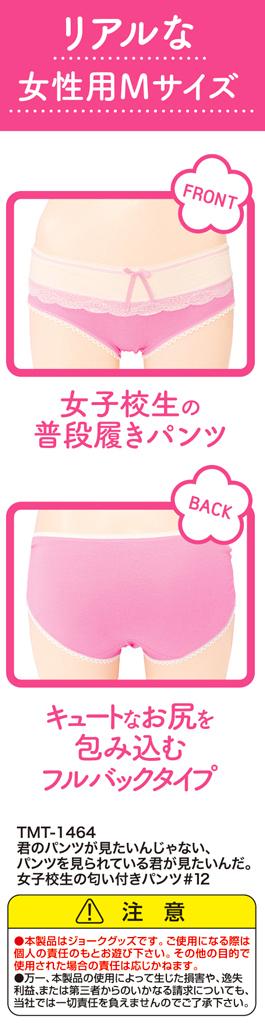 君のパンツが見たいんじゃない、パンツを見られている君が見たいんだ。 女子校生の匂い付きパンツ#12TMT-1464 商品説明画像2