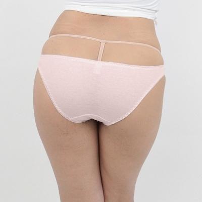 肌なじみの良いコットンシンプルフルバックM ピンク 商品説明画像2