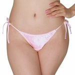 光沢サテン脇紐フルバック 2Lサイズ ピンク