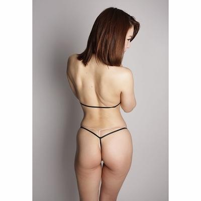 光沢ストレッチ上下オープンブラ&ショーツ ブラック 商品説明画像2