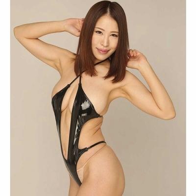 エナメルセクシーアピールプレイスーツ ブラック 商品説明画像1