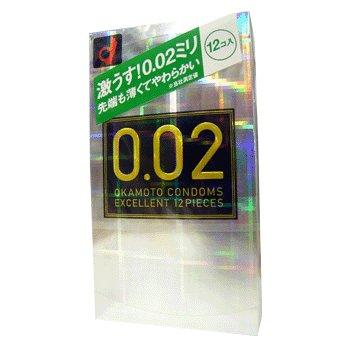 【OKAMOTO CONDOMS 0.02 EX】 オカモト コンドームズ ゼロゼロツー うすさ均一0.02EX 12個  商品説明画像1