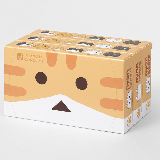 オカモトコンドーム ニャンボーVer. 12コ入×3パック 商品説明画像1