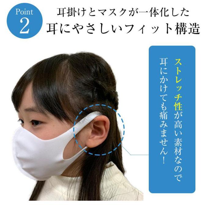 洗える水着素材マスク 大人用 ブラック     VOID-005 商品説明画像7