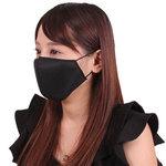 女性用 日本製 涼やかメッシュマスク ブラック(X0135BK)
