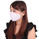 女性用 日本製 涼やかメッシュマスク ホワイト(X0136WH)