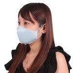 女性用 日本製 涼やかメッシュマスク サックス(X0139SX)