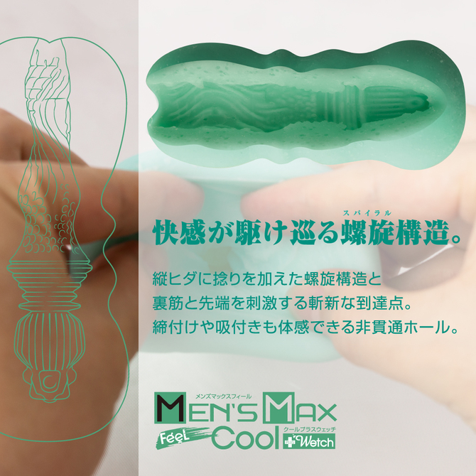 【販売終了・アダルトグッズ、大人のおもちゃアーカイブ】ENJOY TOYS MEN'S MAX FEEL Cool+Wetch (メンズマックスフィール クールプラスウェッチ) 商品説明画像3