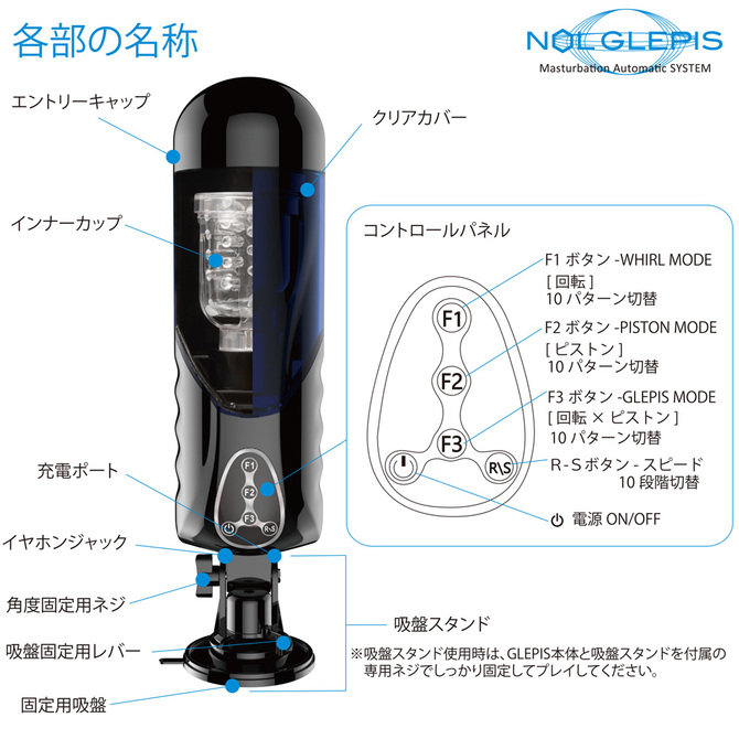【送料無料&ポイント還元!】JAPAN-TOYZ 【回転×ピストン】 電動ホール NOL GLEPIS(ノール グルピス) 商品説明画像12