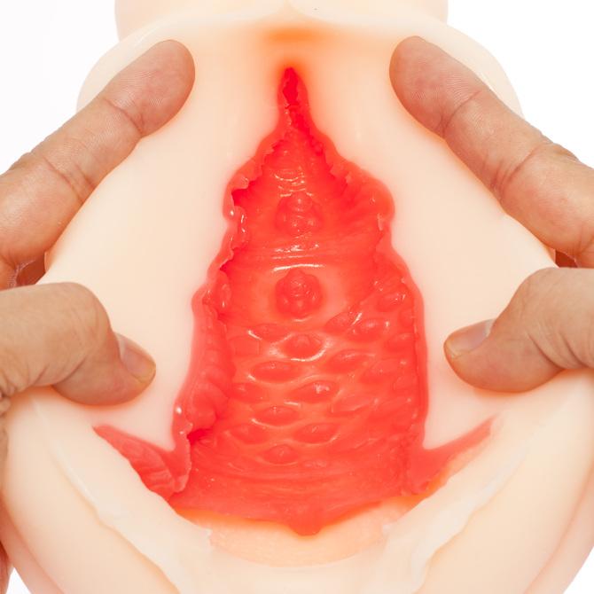 【タイムセール!】YELOLAB  欲情主義 DX 坂咲みほ【リアルな膣圧の挿入感を再現した粘膜2層構造!大型肉厚790グラム  非貫通 3Dホログラムカード付き】 商品説明画像3