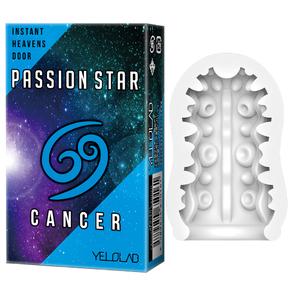 YELOLAB PASSION STAR CANCER Blue【スペースオナポッド なめらか刺激 3連SUCKER 携帯用に便利なシガレットボックス デンマカバー おもちゃカバー ローション付き】