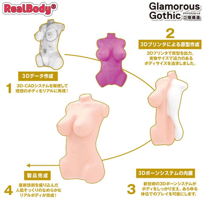 日本製リアルボディ+3Dボーンシステム グラマラスゴシック(二層構造) 商品説明画像3