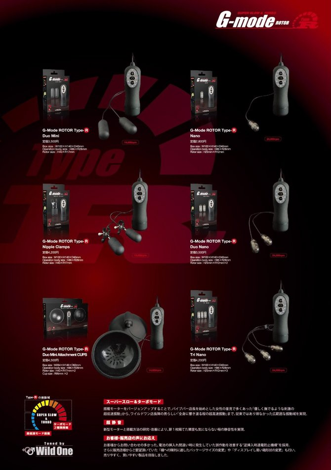 【販売終了・アダルトグッズ、大人のおもちゃアーカイブ】G-Mode ROTOR Type-R Duo Nano ジーモードローター タイプR デュオナノ 商品説明画像5
